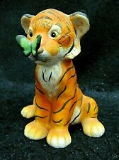 Surprise by Eva Dalberg~Tiger & Butterfly Figurine Franklin Mint~ Free Shipping