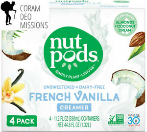 nutpods French Vanilla Dairy-Free Creamer (4-pack) Unsweetened...