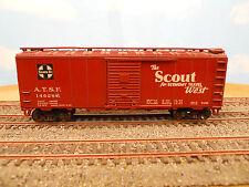"HO SCALE KAR-LINE SANTA FE ATSF 146286 ""THE SCOUT WEST"" 40' BOX CAR"