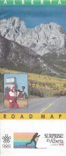 1987 ALBERTA Official Highway Road Map Calgary Medicine Hat Edmonton Red Deer