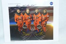 NASA CREW OF SPACE SHUTTLE MISSION STS-135 HAND SIGNED AUTOGRAPH PHOTO