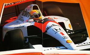 HONDA in the RACE book F1 Formula One Ayrton Senna rare #0262
