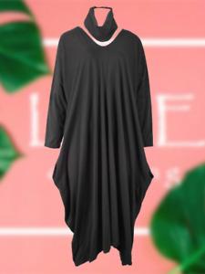 NEW Womens LAGENLOOK PARACHUTE DRESS & Snood Long Pocket Dress