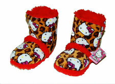HELLO KITTY Warm Plush Sherpa-Lined Rubber Bottom Boot Bootie Slippers NWT