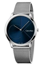 Calvin Klein K3M2112N Minimal Stainless Steel Blue Dial Mens Watch 40mm RRP £150