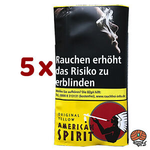 5 x American Spirit Original Yellow Drehtabak à 30 g