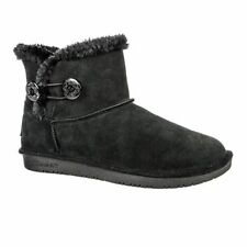 Flat (less than 0.5') Suede Pull On Casual Boots for Women