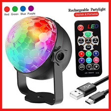 Disco Lights, Rechargeable Disco Ball Lights 4 Colours RGBP Party Lights Strobe