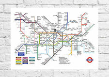 London Underground - Tourist Tube Map - Poster Art - A4 Size
