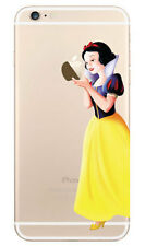 Snow White Holding Apple Decal Sticker for iPhone 4
