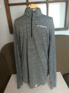 Brooks Equilibrium Technology L/S Running Pullover 1/4 Zip Men's XL