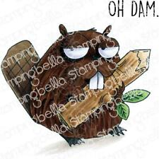 New Stamping Bella Cling Rubber Stamp ODDBALL BEAVER set free USA ship