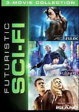 Futuristic Sci-Fi [New Dvd] 3-Movie Pack Aeon Flux Ghost In The Shell The Island