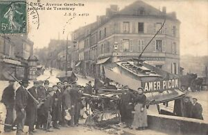 CPA 16 ANGOULEME ACCIDENT DU TRAMWAY AVENUE GAMBETTA