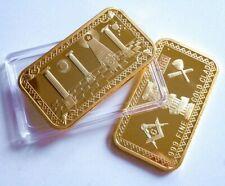 MASONIC TEMPLE FREEMASONRY ILLUMINATI MASON GOLD BAR NWO + CAPSULE 1Pc 2020 UK