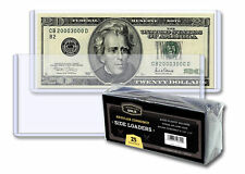 100 Toploader Currency 6.5x3 Ultra Cbg Pro Regular Bill Protector Storage Sleeve