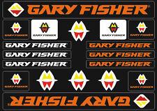 Gary Fisher Mountain Bicycle Frame Decals Stickers Adhesive Set Vinyl Orange