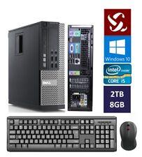 Dell Quad Core i5 3.10GHz Desktop Computer 2TB | 8GB | Windows 10 | Wifi