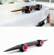 Car SUV Bumper Tail Mini Wing Spoiler Completed Kit with Red Double Lights Decor