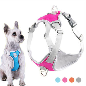 Dog Harness Vest Soft Lining Adjustable Reflective Small Medium Dogs Harness