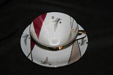 Tasse et sous tasse ancienne en porcelaine de Bavière Art Déco