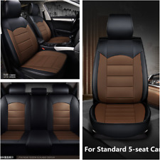 Car Seat Cover PU Leather Auto Pad Mat Standard 5-Seats Front+ Rear Cushion Set