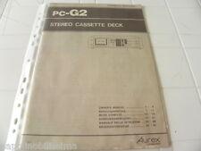 Aurex Toshiba pc-G2 De propietario Manual Operating Instrucciones instrucciones