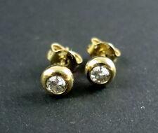 2 Ohrstecker 585 Gelb-/Weißgold je 1 Solitär Diamante zus. ca. 0,3 ct NP 990 €