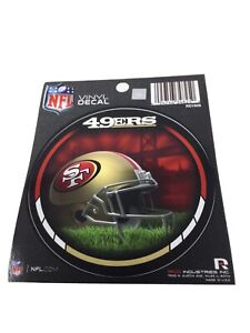 """Lot Of 6 ~ San Francisco 49'ers NFL Round Vinyl Decal  Stickers ~ 4.5"""" ~ New"""