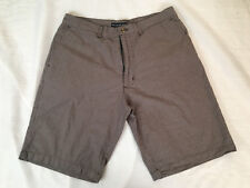 MICHAEL BRANDON MEN'S KNEEE LENGTH SHORTS, BROWN, WHITE & GRAY CHECKS, Size 36