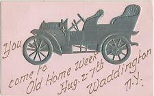 New York NY Postcard 1909 WADDINGTON OLD HOME WEEK Car
