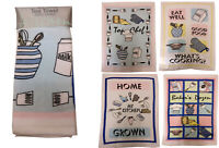 Pack of 4Tea Towels 100% Cotton Velour Kitchen Dish Drying Towel Sets
