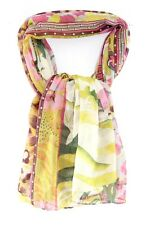 COLORFUL LADIES FLORAL VIBRANT AZTEC GRAPHIC PRINT STATEMENT SCARF(MS28)