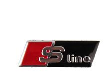 Stemma Volante S LINE per Audi A1 A2 A3 A4 A5 A6 A7 A8 Q5 Logo Emblema Sterzo