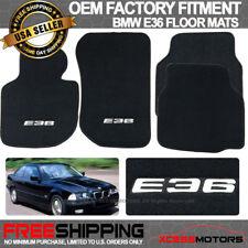 Fits Custom Logo 92-98 BMW E36 3-Series OE Fitment Floor Mats Carpet Front Rear
