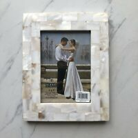 Burnes Of Boston Picture Frame Mother Of Pearl Shell NWT Wedding Anniversary 5x7