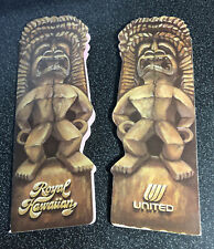 2 VINTAGE UNITED AIRLINES ROYAL HAWAIIAN TIKI MENUS