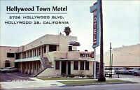 Hollywood Town Motel Hollywood California CA vintage cars ~ 1950s