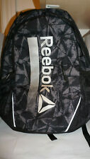 Reebok New Trainer Pack BagPack Book Bag Workout Padded LapTop Black Ice