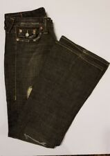 "TRUE RELIGION ""Joey"" Size 28 28X33 Flap Pockets Twisted Distressed ~ M25"