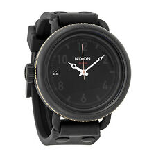 Nixon October Matte Black  Industrial Green Mens Watch A4881530