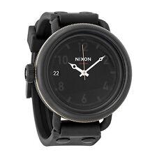 Nixon October Matte Black  Industrial Green Mens Watch A4881530