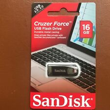 NEW SanDisk 16GB CRUZER FORCE USB Flash Drive CZ71 High Speed Memory Stick UK