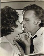modern glossy photo of elizabeth taylor & richard burton. car kiss scene !