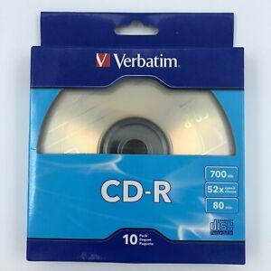 Verbatim CD-R, 700Mb, 52X Speed, 80 Min, Silver, 10/Pack NEW