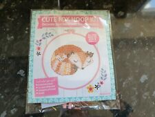 counted cross stitch kits 14 count Cute fox hoop kit