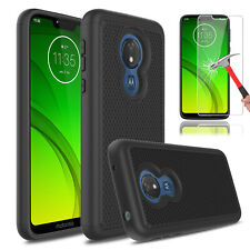 For Motorola Moto G7/G7 Plus/Power/Supra/Play Armor Case With Screen Protector