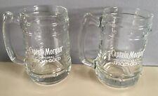 2 x NEW Captain Morgan Rum Clear Glass Tankard - Official Brand