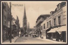 Postcard Colchester Essex shops in High Street looking West early RP