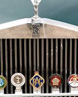 ROYAL AUTOMOBILE CLUB CAR GRILL BRASS 'RAC' WITH CROWN RARE CAR BADGE